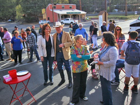 Several Ruidoso residents and tourists enjoyed the festivities during Cornerstone's drive-thru ribbon cutting ceremony April 19.
