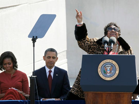 FILE - In this Oct. 16, 2011 file photo, Aretha Franklin