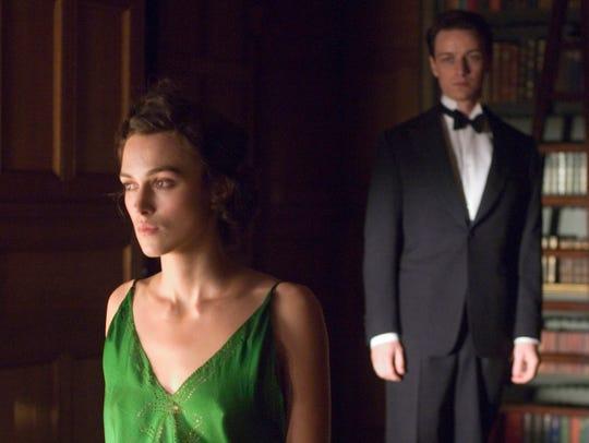 Cecilia (Keira Knightley, left) and Robbie (James McAvoy)