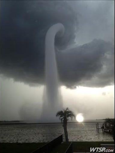 Waterspout near Oldsmar, 7/8/13.