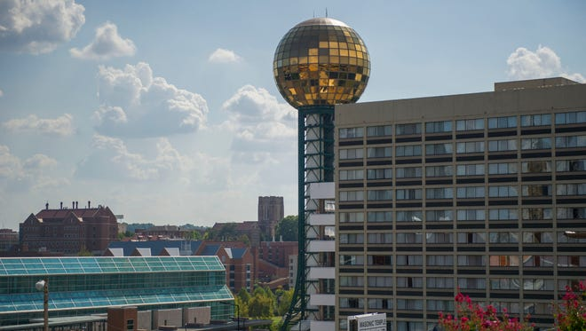 A view of the Sunsphere on Wednesday, Sept. 14, 2016.  (CAITIE MCMEKIN/NEWS SENTINEL)
