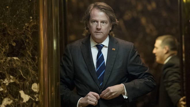 Don McGahn, a veteran Washington campaign finance attorney and former chairman of the Federal Election Commission, has been selected for White House counsel.