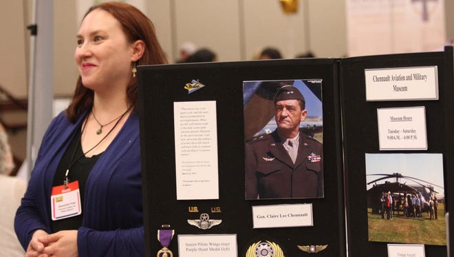 Alexandria Powe represents Chennault Aviation and Military Museum at the Ouachita 101 event.