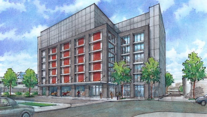 A 3-D rendering of the storage building planned for  825 Third Ave. S.