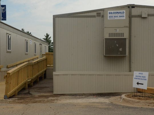 Some of the RMTC's central office staff will be housed in these two portable offices.