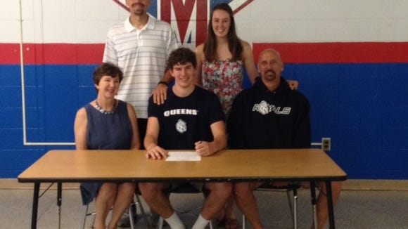 McDowell senior Isaac Hillman has signed to play college basketball for Queens.