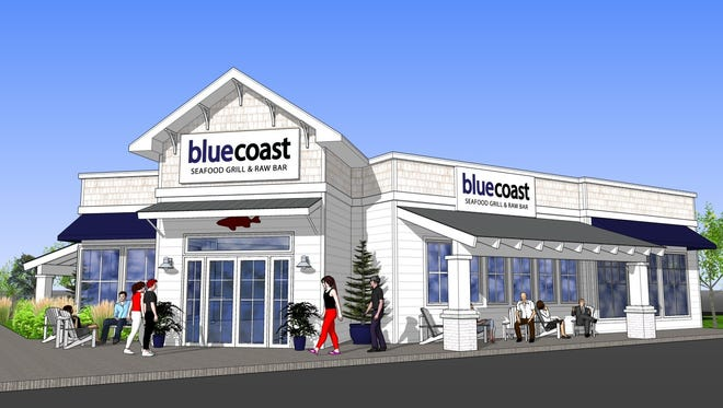 The rendering of the new Bluecoast Seafood Grill & Raw Bar, set to open in Rehoboth Beach summer 2017.