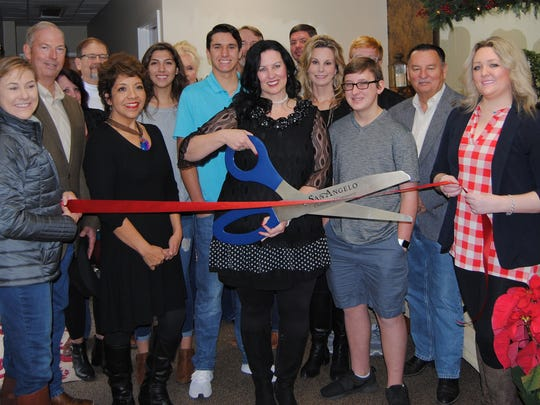 Members of the San Angelo Chamber of Commerce and the Concho Cadre held a ribbon-cutting with Abbie Kadabby, owner/esthetician of LaBella Massage + Skincare, 322 W. Twohig Ave., and San Angelo City Councilman Harry Thomas, her family and friends onDec. 16.