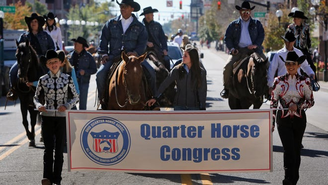 One of the past parades for the Quarter Horse Congress.