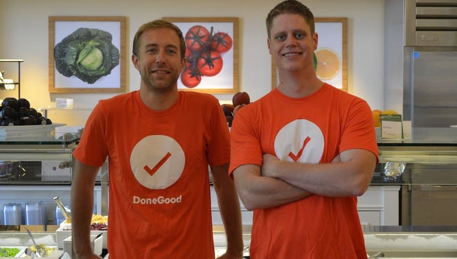 From left, DoneGood cofounders Cullen Schwarz and Scott Jacobsen