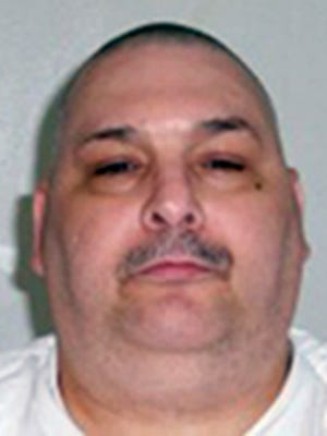 FILE - This undated file photo provided by the Arkansas Department of Correction shows death-row inmate Jack Jones, who is one of two Arkansas killers set to die Monday, April 24, 2017, in the nation's first double execution in more than 16 years. Jones was given the death penalty for the 1995 rape and killing of Mary Phillips.