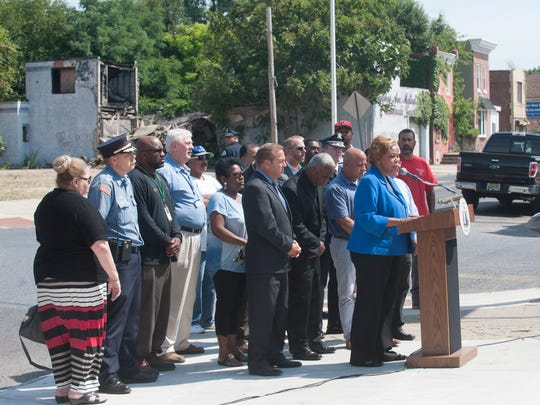 Camden Mayor Dana L. Redd and members of the community announced the last phase of the largest residential demolition project in state history aimed at eliminating 591 blighted structures throughout the City of Camden. The project, which began in January of 2015, has demolished, properly disposed of material and remediated more than 500 properties throughout the city.