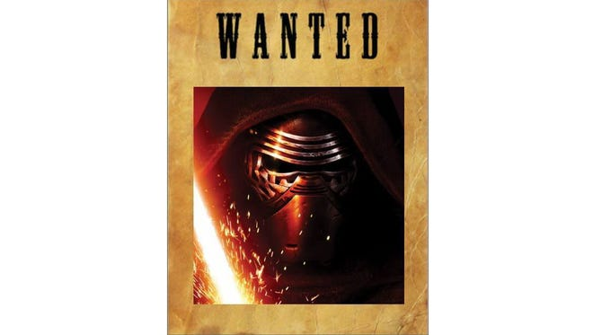 Kylo Ren wanted poster
