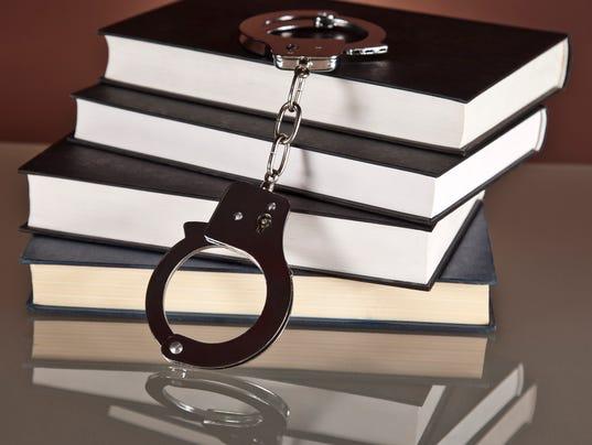 books, law, handcuffs,