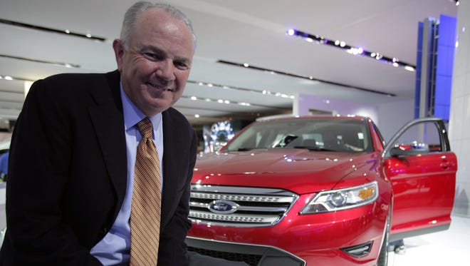 AutoNation's CEO Mike Jackson of Ft. Lauderdale, Fla., at the 2009 North American International Auto Show in Detroit at Cobo Hall on Jan. 11, 2009.