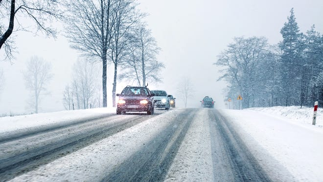 Before getting in your car in winter conditions, brush snow off your vehicle and make sure the windshield wipers are working.