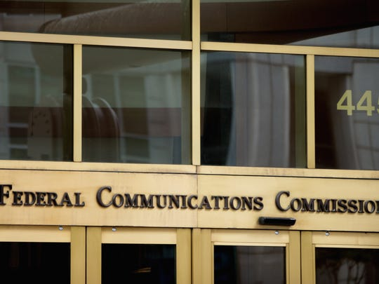 The entrance to the Federal Communications Commission