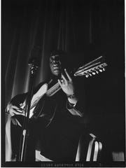 """Hudie """"Lead Belly"""" Ledbetter, seen in a photo from"""