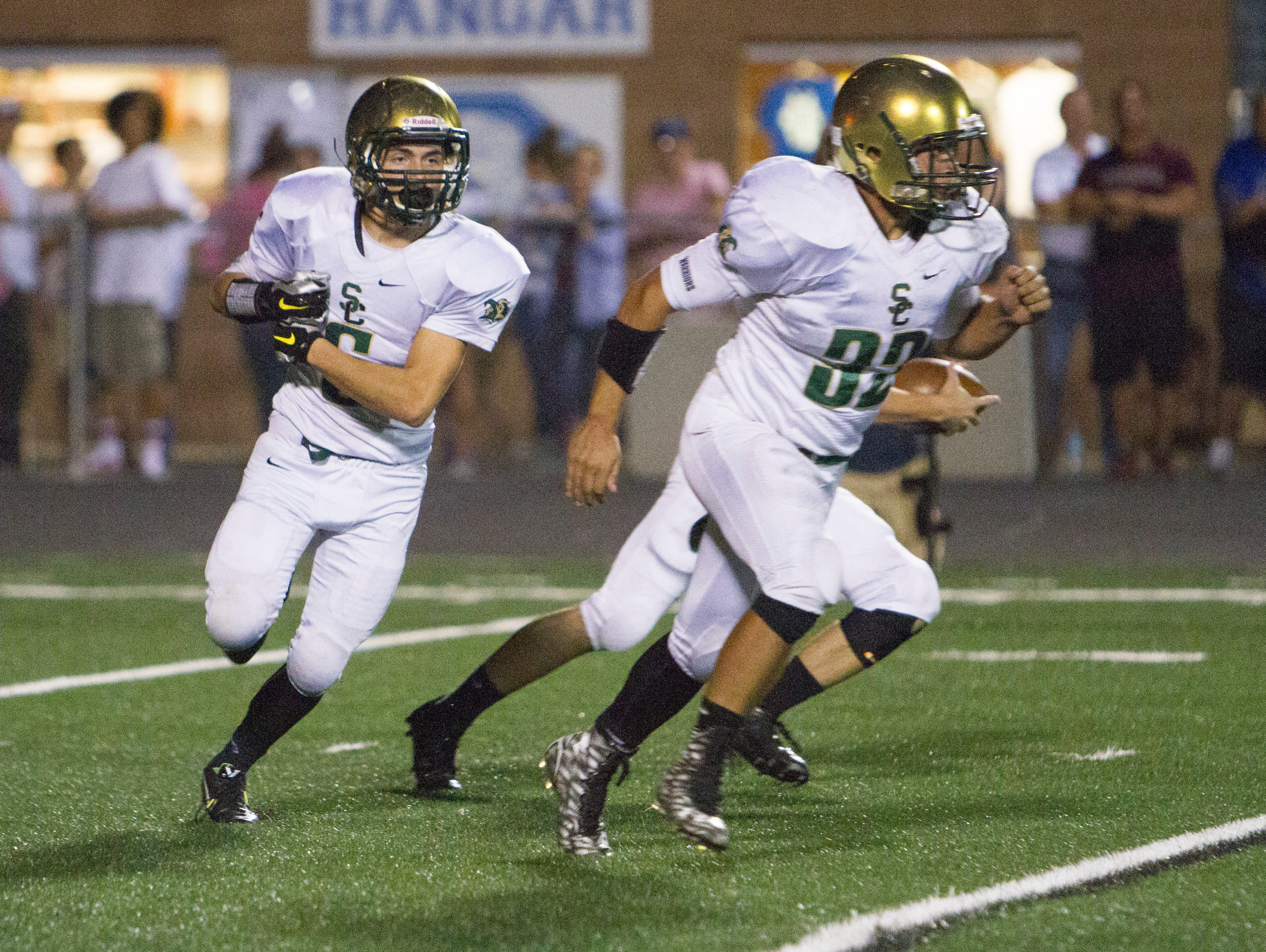 Dixie High and Snow Canyon battle it out at Flyer Field Thursday, Oct. 1, 2015.