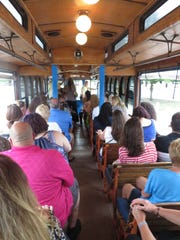 A Cape Coral trolley holds 80 people, and the trolleys