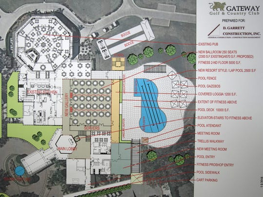 Plans for expansion of The Club at Gateway.