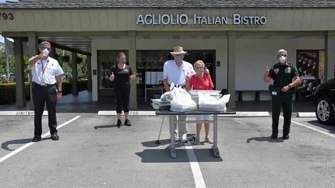 The Wellington Community Foundation, with the support of its donors, is buying hot meals from Agliolio's to be delivered to first responders in Wellington.