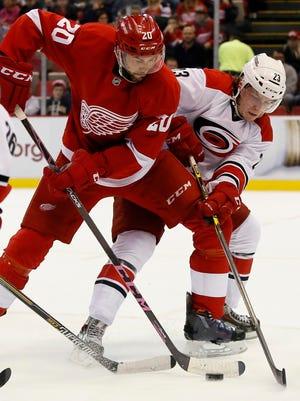 Detroit Red Wings' Drew Miller.