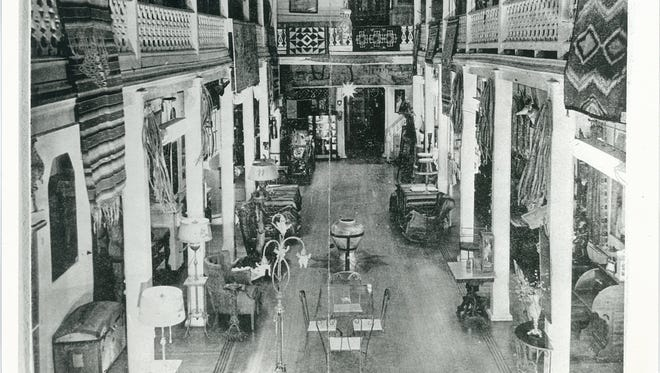 A photograph of the Amador Hotel lobby in the 1940s.