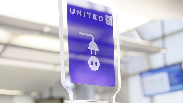 An undated shot of a United charging station.