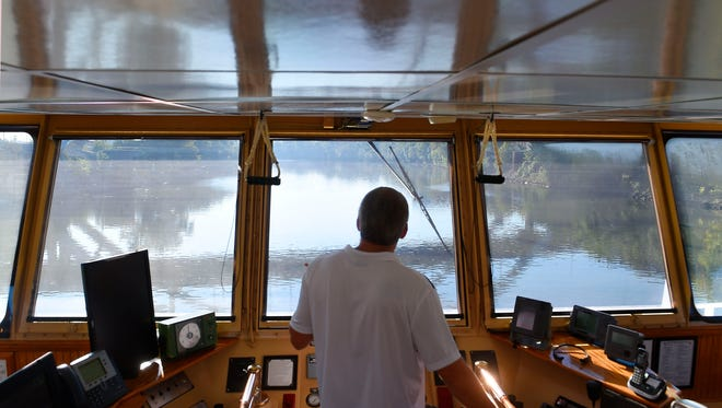 Capt. Todd Butts has spent a lot of time in the wheelhouse of towboats like the James Paul Ayers. Butts has been steering 4,000-horsepower water crafts for 16 years.