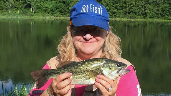 Carol kept her momentum going Sunday with this bass caught at Stephen Foster Lake.