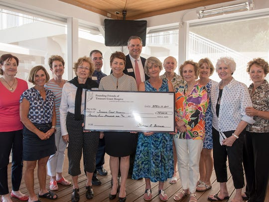 Founding Friends of Treasure Coast Hospice present a $75,000 check to Treasure Health (formerly Treasure Coast Hospice).