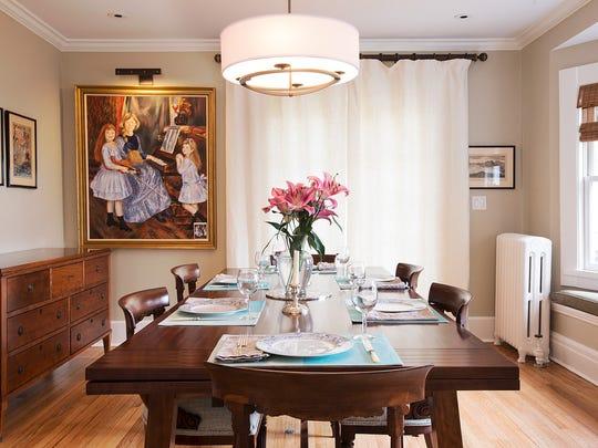 The Cerfs' dining room post-renovation