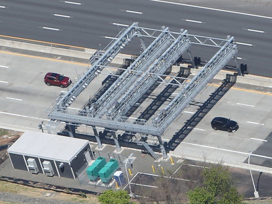 The new cashless toll plaza on the Nyack side of the