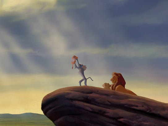 """Simba arrives in """"The Lion King."""""""