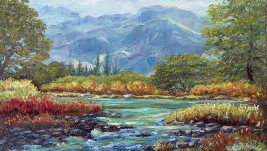 """Glenwood, N.M."" reflects  Rosemary ""Rusty"" Windham's love of trees and scenic landscapes."