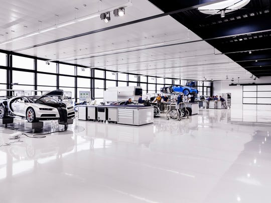 The Bugatti factory in Molsheim, France, is a spotless