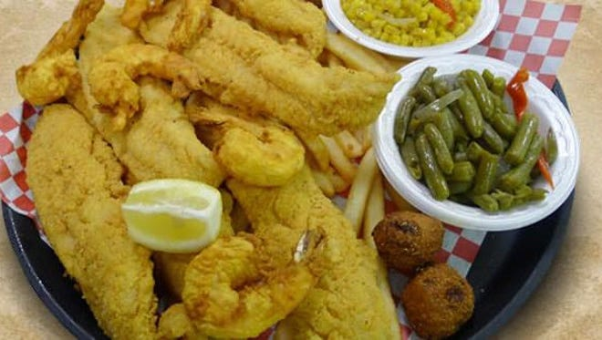 A fish dinner from Sam's Southern Eatery.