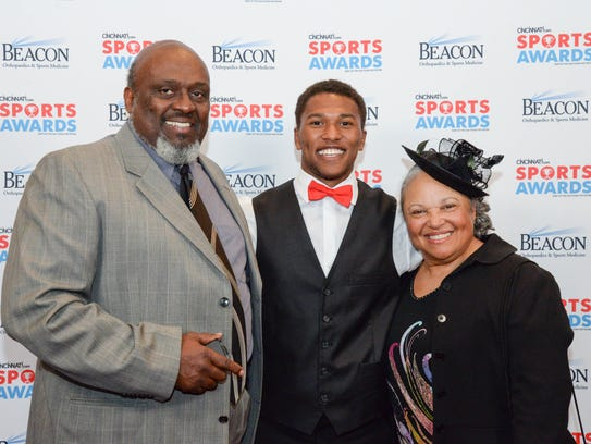 From left, Charles Porter, Zion Wynn and Shirley Porter