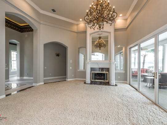 Rooms feature arched entrance ways and domed ceilings