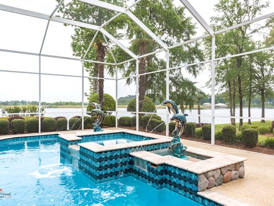 Swim all season in the covered pool.