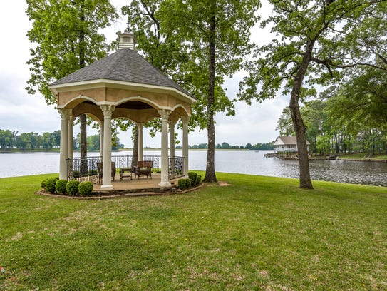 Entertaining will be easy with the gazebo in the backyard.