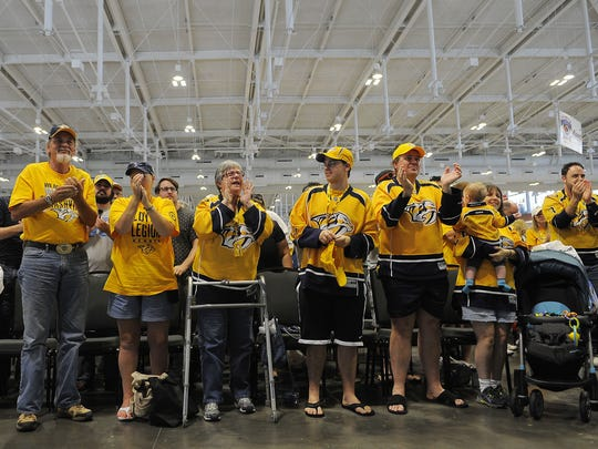 Predators fans came out in force as Peter Laviolette made his debut in Nashville at the Music City Sports Festival at Music City Center.