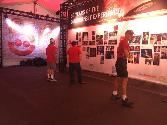 Summerfest 50 exhibit