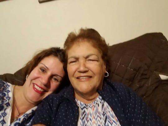 Perth Amboy Mayor Wilda Diaz and her mother, Mercedes