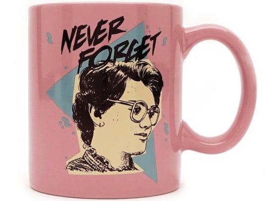 "This ""Stranger Things"" mug commemorates Barb Holland,"