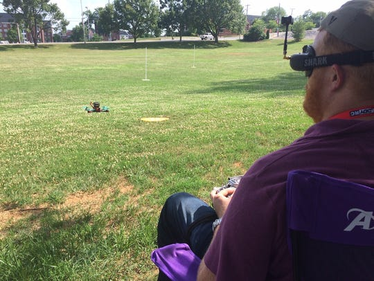 Drone Club at APSU president Mike Hunter brings in