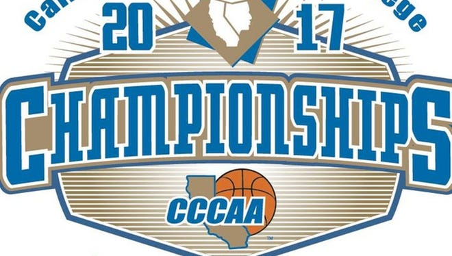 California Community College basketball championships logo.