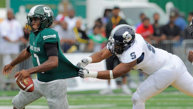 Rodney Hall showed his running ability in Cass Tech's win over Southfield.