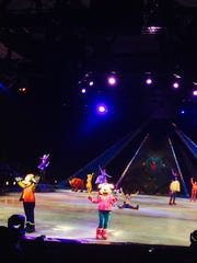 """""""Disney on Ice presents Frozen"""" opened with Mickey and Minnie, as well as other popular Disney characters, at the El Paso County Coliseum on Oct. 11, much to the delight of the sold-out audience."""